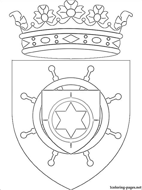 bonaire coat of arms coloring page coloring pages