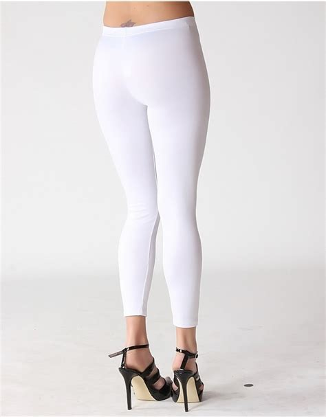 British Leggings   Solid White Leggings