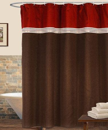 red brown curtains red brown terra shower curtain