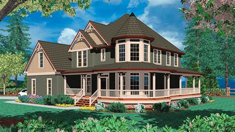 house with a wrap around porch floor plans with wrap around porch from floorplans