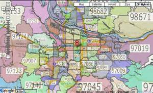 map of portland oregon zip codes portland oregon zip code map boundaries