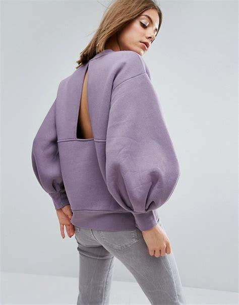 asos white balloon sleeve sweater asos