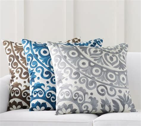Oversized Pillow Covers by Oversized Suzani Print Silk Pillow Cover Pottery Barn