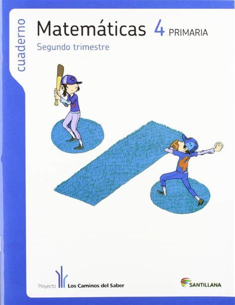 libro cuaderno matemticas 4 primaria cuaderno matem 193 ticas 2 186 trimestre 4 186 primaria caminos del saber 12 de descuento aplicado en