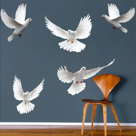 Branches Wall Stickers dove birds wall decal murals bird decals primedecals