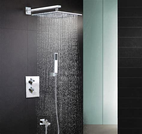 Bath Shower Thermostatic Mixer free shipping 8 inch thermostatic three ways bathroom