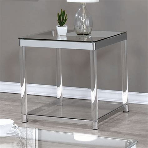 clear acrylic sofa table acrylic sofa table acrylic console sofa tables you ll love