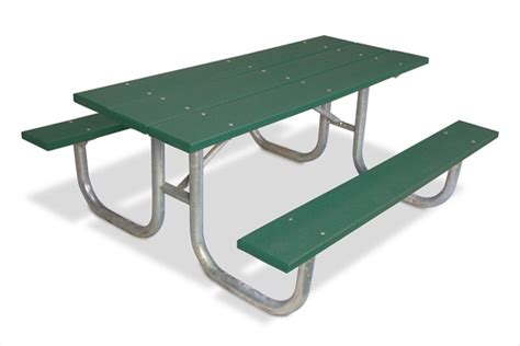 picnic table recycled green plastic planks