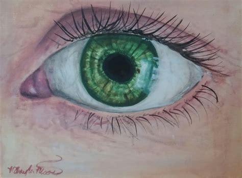acrylic painting eye realistic eye speed painting in acrylic