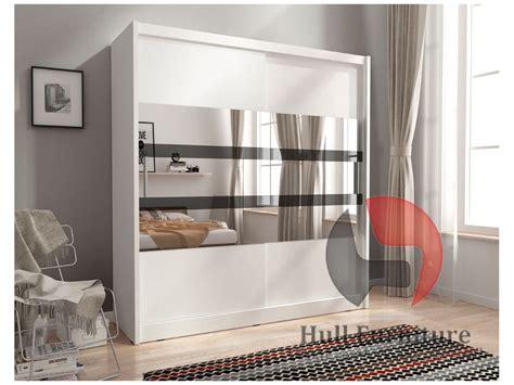 White Sliding Wardrobes by Maja V 200cm White Sliding Door Wardrobe With Mirror