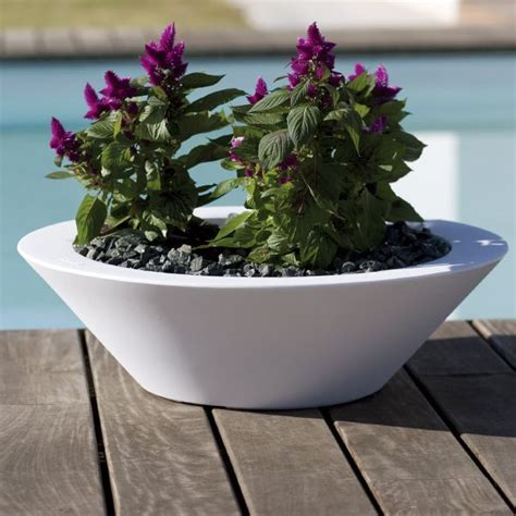 modern bowl large outdoor garden planter homeinfatuation