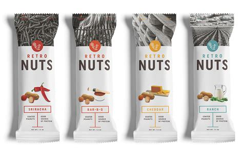 retro nuts brand strategy identity packaging  behance
