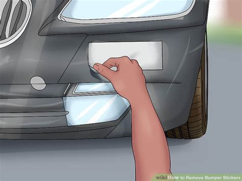 How To Remove Bumper Sticker From Car