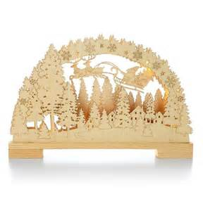 2014 laser cut wood santa scene hallmark christmas