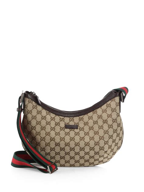 G Ci Bag 1660 lyst gucci original gg canvas messenger bag in brown
