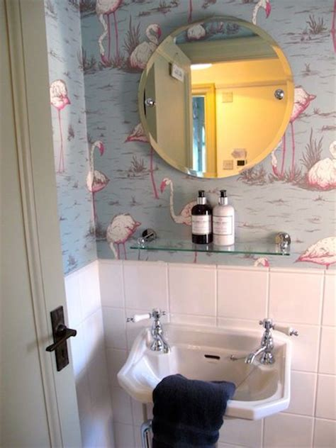 flamingo wallpaper toilet 1000 ideas about downstairs cloakroom on pinterest