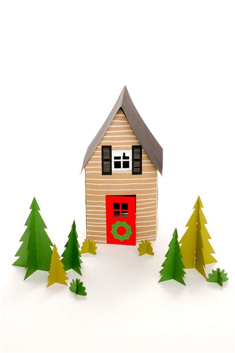 paper holiday houses  templates