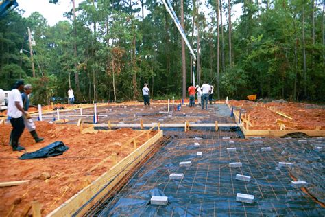 How To Pour A Concrete Slab For A Shed by Pouring The Concrete Slab