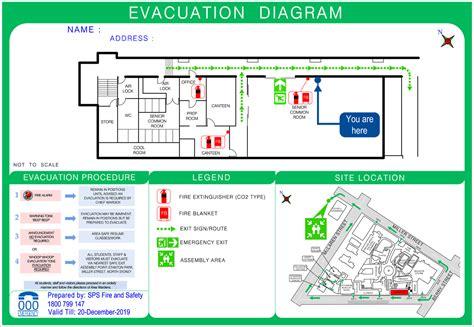 evacuation plan template nsw emergency exit floor plan general information 50