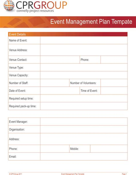 event planning template download free premium
