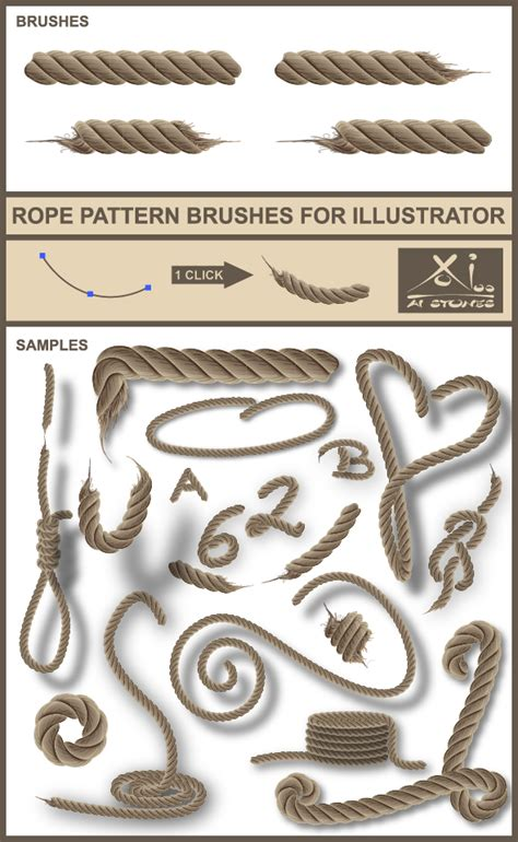 illustrator rope pattern brush real rope brushes for illustrator by aistones graphicriver