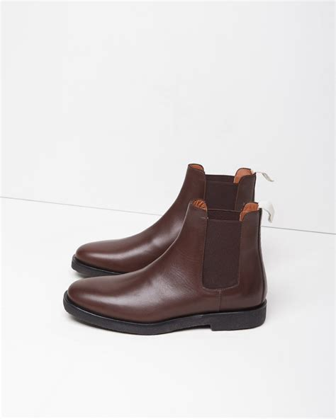 by common projects boots common projects leather chelsea boots in brown lyst