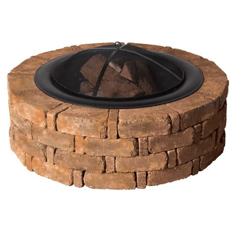 runde feuerstelle pavestone rumblestone 46 in x 14 in concrete