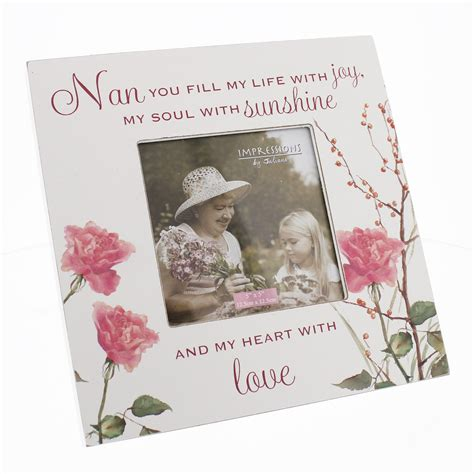 pretty sentimental words photo picture frame shabby chic grandma mum nanna nan ebay