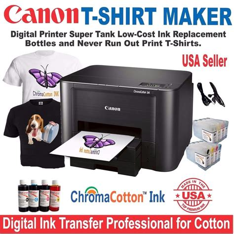 Blueprint Canon Starter Pack canon printer complete starter kit t shirt maker plus bulk transfer ink ebay