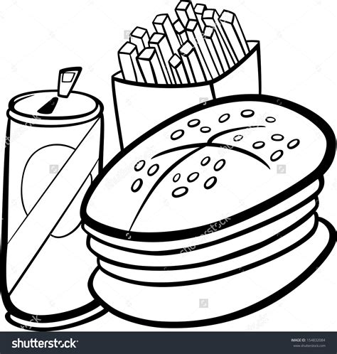food clipart black and white black and white fast food free clipart clipground