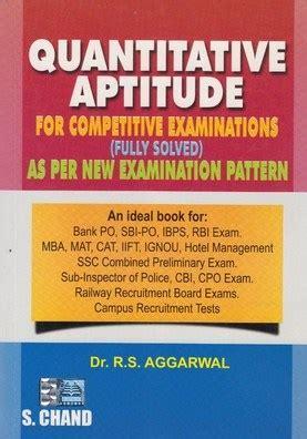 Quantitative Skills Classes Mba by R S Aggarwal Quantitative Aptitude Free Pdf E Book