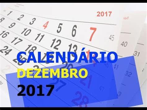 Calendario Dezembro Calend 193 Dezembro 2017 Feriados Feriad 195 O De