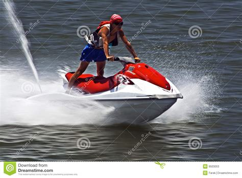 water scooter flying water scooter stock photos image 9503053