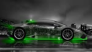 Neon Green Lamborghini Lamborghini Huracan Side City Car 2014 El Tony