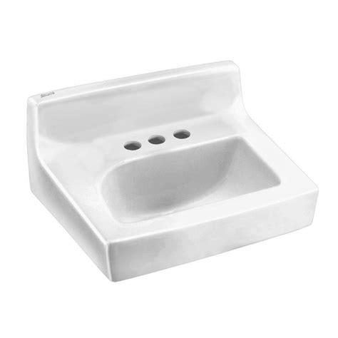 standard wall hung sink standard penlyn wall hung bathroom sink in white