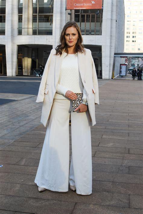 pant leg style wide leg pant street style fashion week fw14 milan new