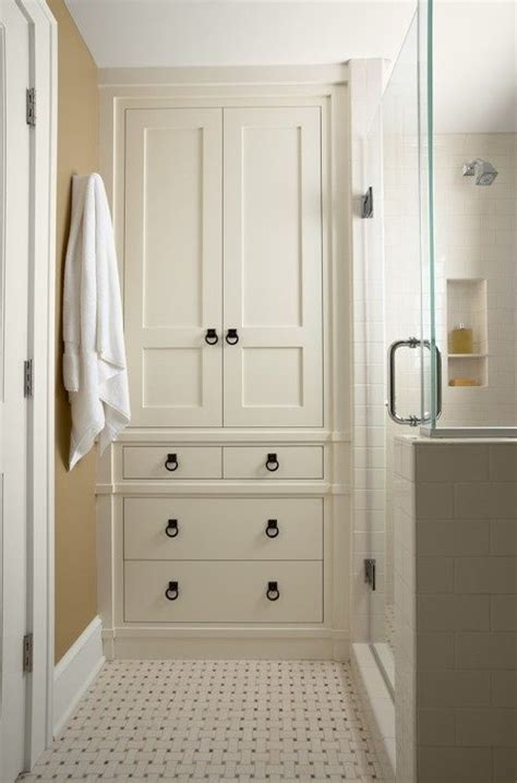 Bathroom Linen Closet Doors 94 Best Images About Bathroom Niches Shelving Storage On Pinterest Traditional Bathroom
