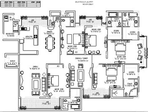 5 bedroom bungalow building plan four in 2018 also