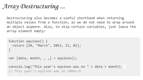 pattern matching es6 getting started with es6 future of javascript