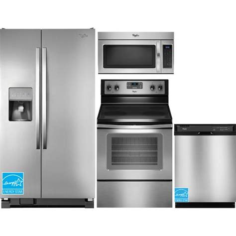 complete kitchen appliance packages whirlpool wrs325fdam stainless steel complete kitchen