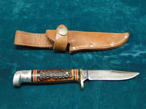 boy scouts of america knife western usa official boy scouts of america fixed blade knife with leather sheath ebay