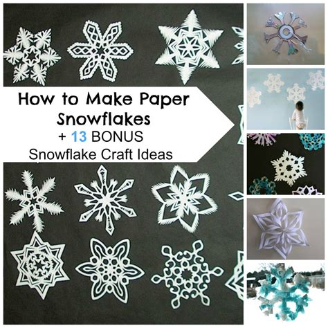Paper Snowflake Craft - how to make paper snowflakes 13 bonus snowflake craft
