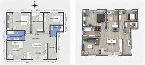 Interior Design Plan by Interior Designer Uses Roomsketcher To Visualize Design