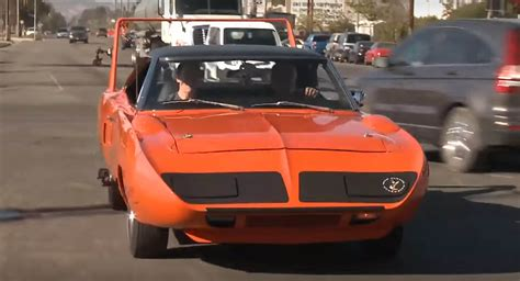 time plymouth leno goes back in time with plymouth superbird
