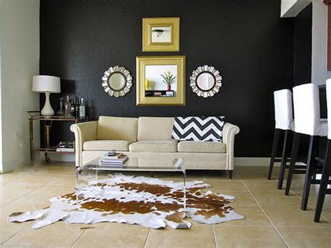 cowhide rug living room decorating with a cowhide rug room decorating ideas