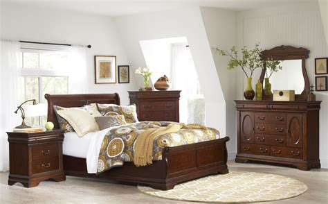 Antique Cherry Bedroom Furniture Chateau Vintage Cherry Panel Bedroom Set B4800 58h 58f 58r Largo Furniture