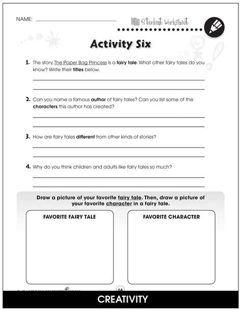 Paper Bag Princess - BONUS WORKSHEETS - Grades 1 to 2