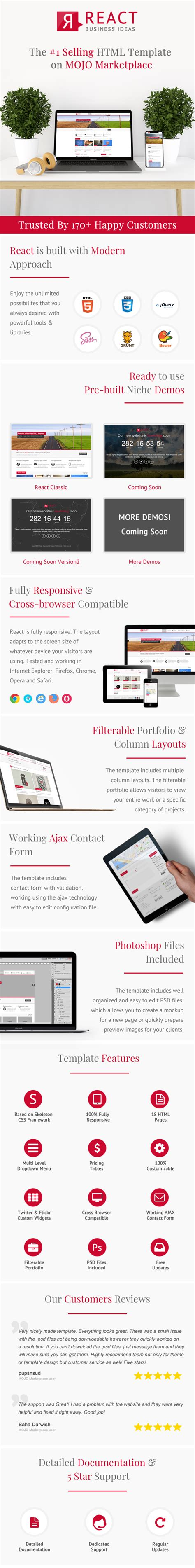 react multi purpose html5 template themes templates