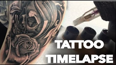 black and grey tattoo dvd tattoo time lapse skull and rose black and grey