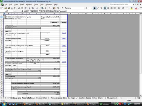 %name Audit Workpaper Template   Download free Internal Audit Working Papers: Payroll Audit Working Papers templates in MS Excel